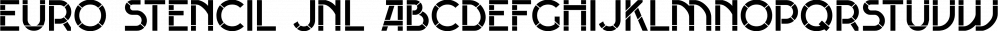 Euro Stencil JNL font family by Jeff Levine Fonts
