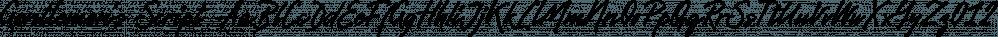 Gentlemen's Script font family by Piñata