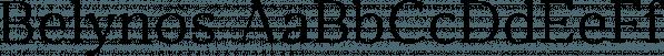 Belynos font family by Typomancer