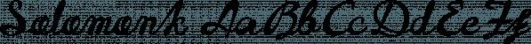 Solomonk font family by Etewut