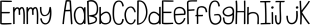Emmy font family mini