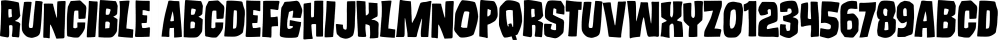 Runcible font family by PintassilgoPrints