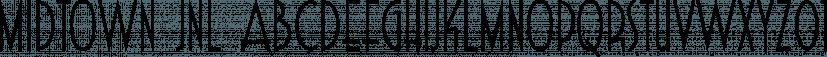 Midtown JNL font family by Jeff Levine Fonts