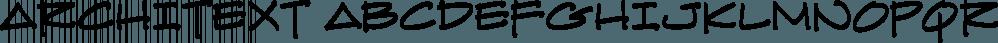 ArchiText font family by Blambot