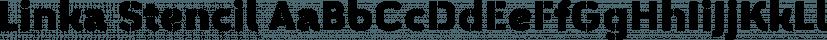 Linka Stencil font family by Vanarchiv
