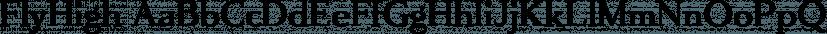 FlyHigh font family by Ingrimayne Type