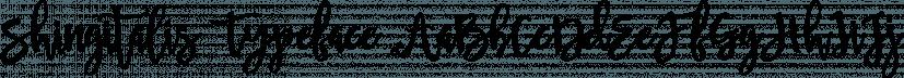 Shingitalis Typeface font family by Area Type Studio