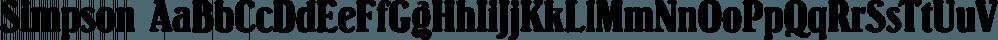 Simpson font family by FontSite Inc.