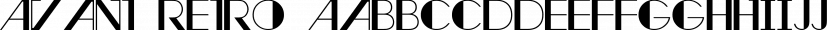 Avant Retro font family by Weslo Fonts