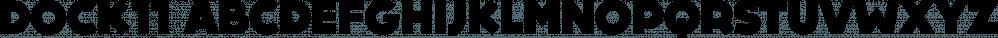 DOCK11 font family by Artill Typs