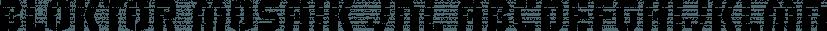 Bloktor Mosaik JNL font family by Jeff Levine Fonts