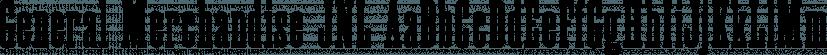 General Merchandise JNL font family by Jeff Levine Fonts