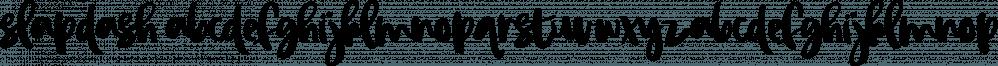Slapdash font family by On The Spot Studio