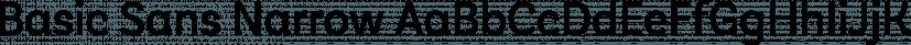 Basic Sans Narrow font family by Latinotype