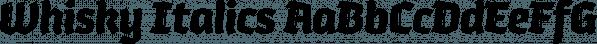Whisky Italics font family by Corradine Fonts