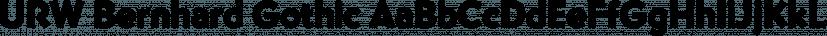URW Bernhard Gothic font family by URW Type Foundry