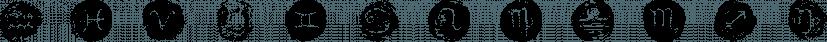 Starsigns Color font family by Tarallo Design