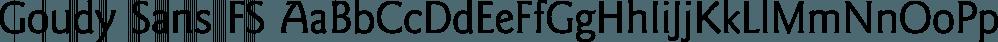 Goudy Sans FS font family by FontSite Inc.