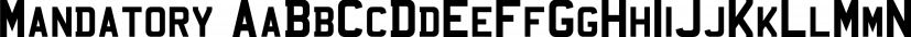 Mandatory font family by K-Type