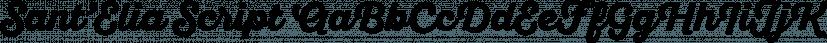 Sant'Elia Script font family by Yellow Design Studio