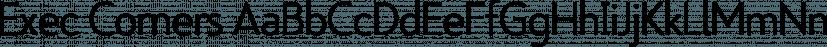 Exec Corners font family by Wiescher-Design