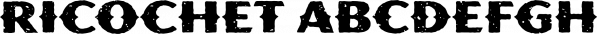 Ricochet font family by Ben Harman Design