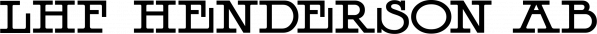 LHF Henderson font family by Letterhead Fonts