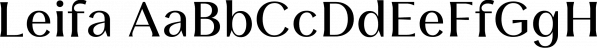 Leifa font family by Moritz Kleinsorge