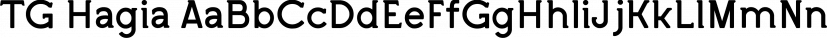 TG Hagia font family by Tegami Type