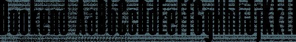 Bookend font family by Ian Barnard