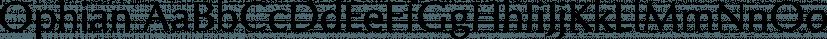 Ophian font family by FontSite Inc.