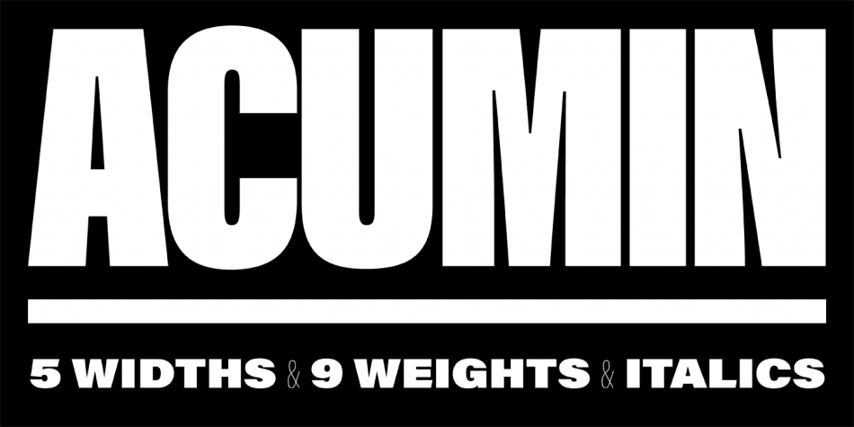 Download Acumin Pro font