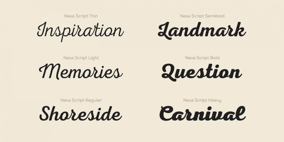 Download Nexa Script Font Family