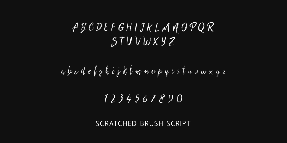 scratched brush script
