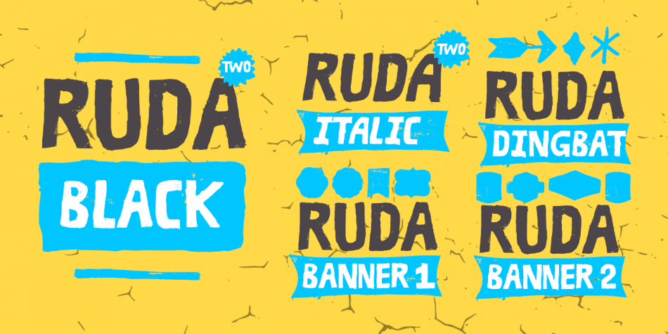 Download Ruda Two Font Family