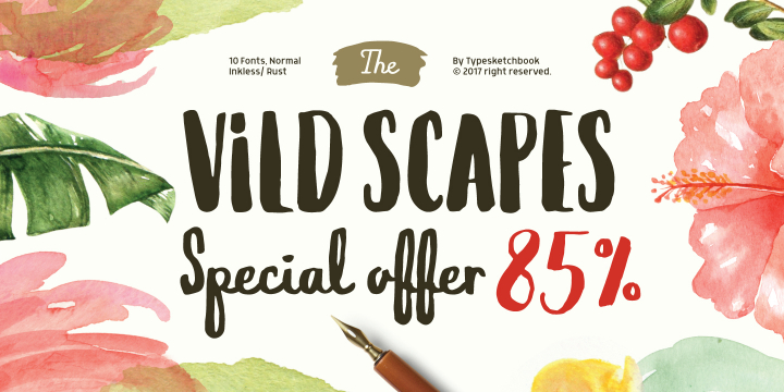 Vild Scapes font family by Typesketchbook