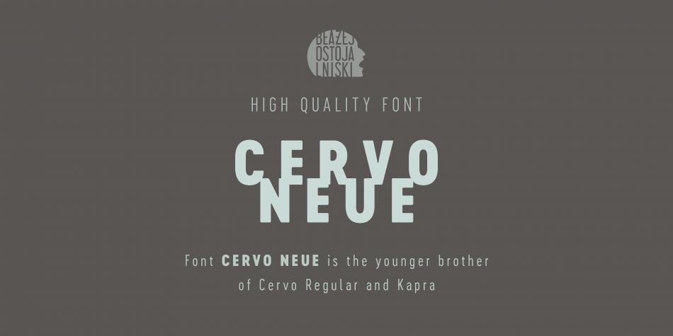 Download Cervo Neue Font Family